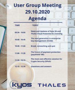 User Group Meeting – 29.10.2020 (online)
